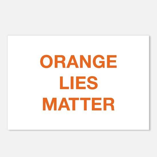 Orange Lies Matter Postcards (Package of 8)