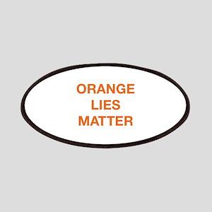 Orange Lies Matter Patches