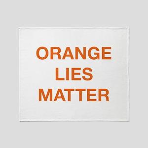Orange Lies Matter Stadium Blanket