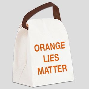 Orange Lies Matter Canvas Lunch Bag