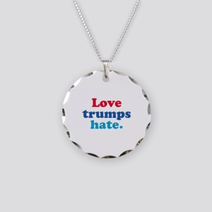 Love Trumps Hate Necklace Circle Charm