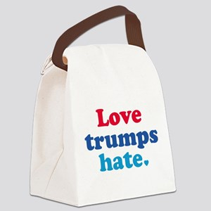 Love Trumps Hate Canvas Lunch Bag