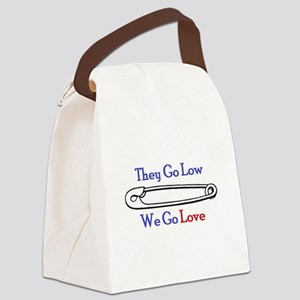 We Go Love Canvas Lunch Bag