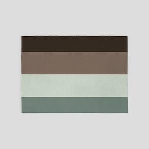 Sage Espresso brown Stripes 5'x7'Area Rug
