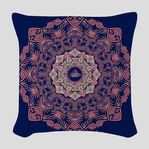 Tribal Hogfish Mandala Woven Throw Pillow