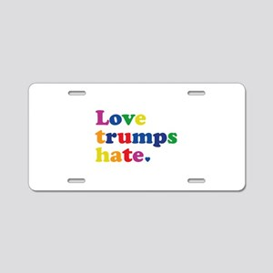 GLBT Love Trumps Hate Aluminum License Plate