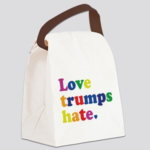 GLBT Love Trumps Hate Canvas Lunch Bag