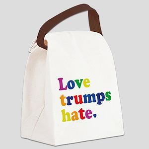 GLBT Love Trumps Hate Canvas Lunch Bag