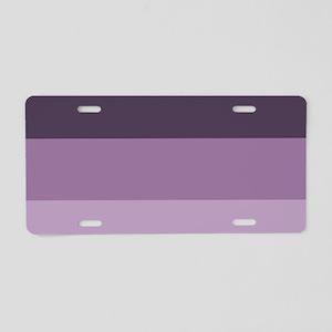 grey lavender purple stripe Aluminum License Plate