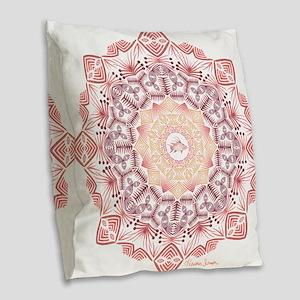 Tribal Hogfish Mandala Burlap Throw Pillow