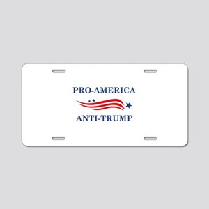 Pro-America Anti-Trump Aluminum License Plate