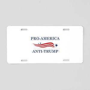 Pro-America Anti-Trump Aluminum License Plate