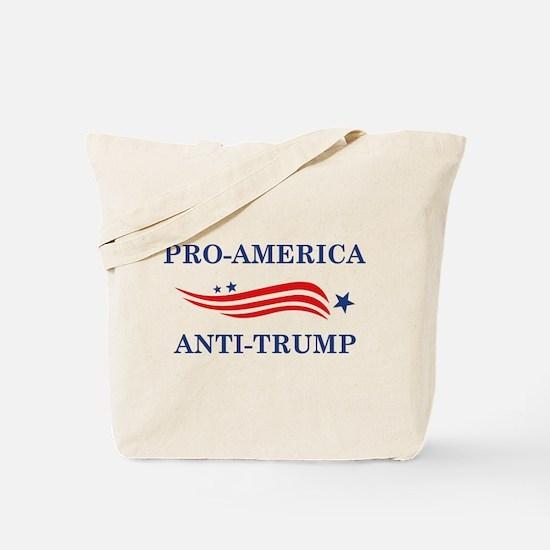 Pro-America Anti-Trump Tote Bag