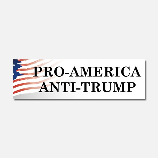 Pro-America Anti-Trump Car Magnet 10 x 3