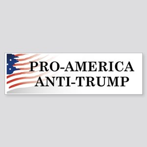 Pro-America Anti-Trump Bumper Sticker