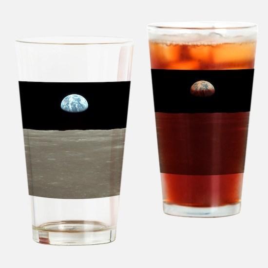 Cute Nasa moon landing Drinking Glass