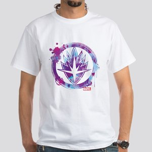 Guardians of the Galaxy Splatter Ico White T-Shirt