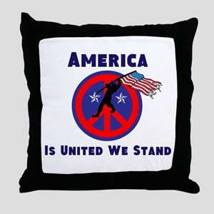 America is United We Stand Throw Pillow