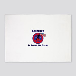 America is United We Stand 5'x7'Area Rug