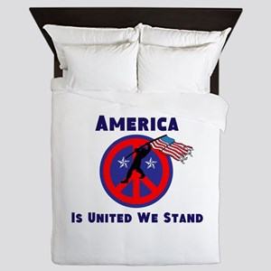 America is United We Stand Queen Duvet