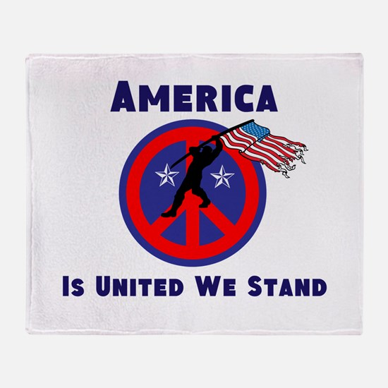 America is United We Stand Throw Blanket