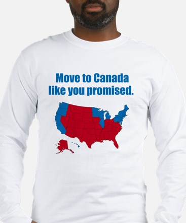 move-to-canada-BLACK Long Sleeve T-Shirt