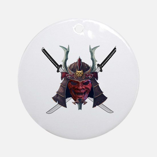 Cute Samurai Round Ornament