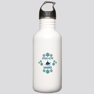 Peace Love Sharks Stainless Water Bottle 1.0L