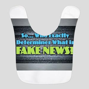 Fake News Polyester Baby Bib