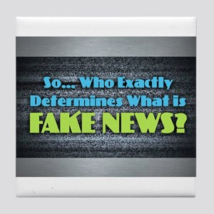 Fake News Tile Coaster