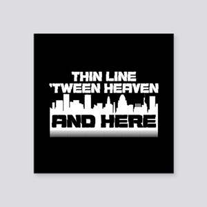 "Thin Line Square Sticker 3"" x 3"""