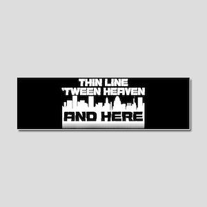 Thin Line Car Magnet 10 x 3