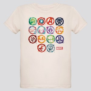 Marvel All Splatter Icons Organic Kids T-Shirt