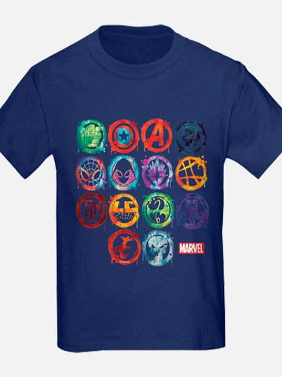 Marvel All Splatter Icons T