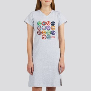 Marvel All Splatter Icons Women's Nightshirt