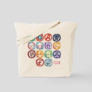 Marvel All Splatter Icons Tote Bag