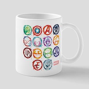 Marvel All Splatter Icons Mug