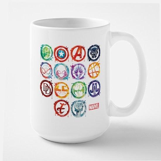 Marvel All Splatter Icons Large Mug