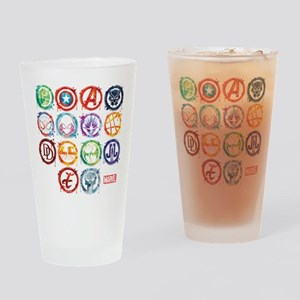 Marvel All Splatter Icons Drinking Glass