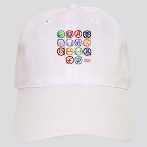 Marvel All Splatter Icons Cap