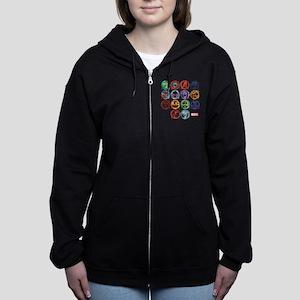 Marvel All Splatter Icons Women's Zip Hoodie