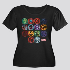 Marvel A Women's Plus Size Scoop Neck Dark T-Shirt