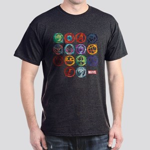 Marvel All Splatter Icons Dark T-Shirt