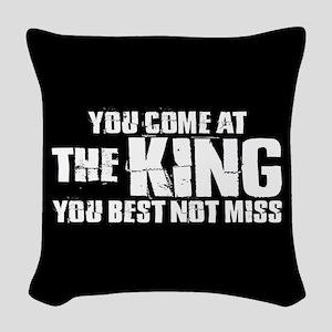 The King Woven Throw Pillow