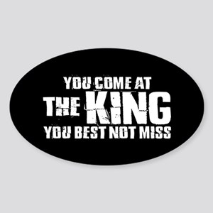 The King Sticker (Oval)