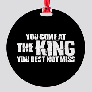 The King Round Ornament