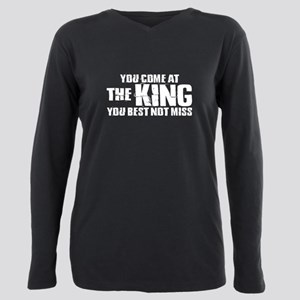 The King Plus Size Long Sleeve Tee