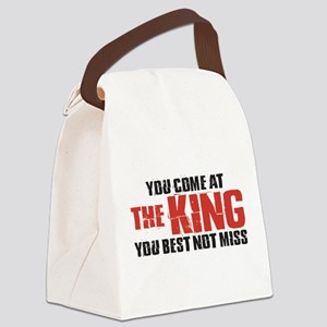 The King Canvas Lunch Bag