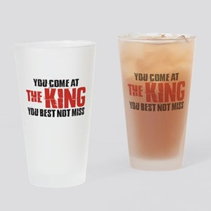 The King Drinking Glass