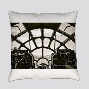 B-29 Cockpit Everyday Pillow